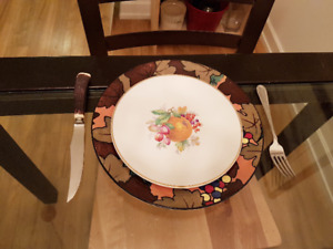 VTG Royal Doulton Plates/Chargers - thanksgiving dinner??