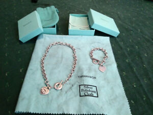 Tiffany Sterling Silver Necklace and Bracelet