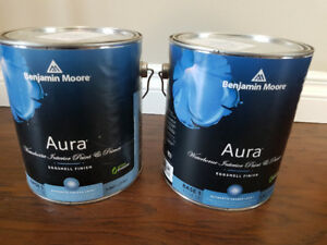 2 - 3.667 cans of Benjamin Moore Aura Paint