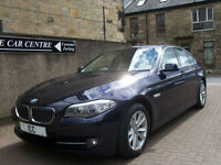 12 62 REG BMW 520D TURBO DIESEL 4DR £30TAX SATNAV 1 OWNER FSH HEATED LTHR