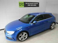 Audi A3 2.0TDI 184 S Line blue BUY FOR ONLY £49 A WEEK ON FINANCE £0 DEPOSIT