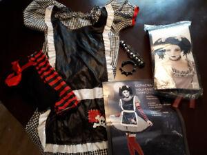 Déguisement d'Halloween poupée de chiffon gothique