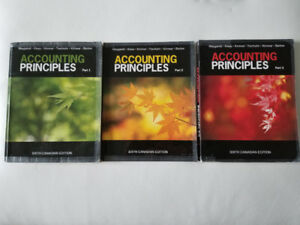 Accounting Principles Part 1, 2 and 3 Textbooks - $60