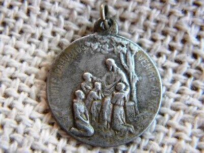 Antique Metal Medal Jesus Children Adveniat Regnum