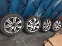 audi a4 b8 alloys with tires cheap