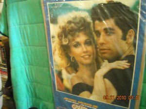 Grease Movie Poster with John Travolta & Olivia Newton-John Peterborough Peterborough Area image 2