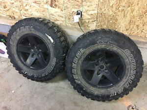 selling 16''jk jeep rims with 32'' mud tires
