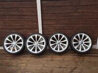 "BMW M5 Style 20"" staggered alloy wheels"