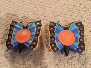 Decorative Butterfly Citronella Candleholders +12 Extra Candles