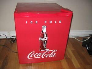 Coca Cola mini fridge.