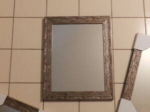 4 BRAND NEW, FRAMED AND MATCHING WALL MIRRORS, $50
