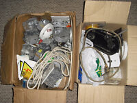 New and used electric boxes fixtures trim hardware etc...