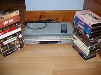 JVC VCR player with tapes