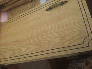 complete set of cupboard doors and the matching drawers