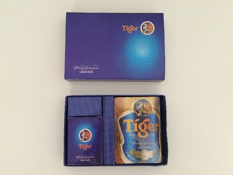Tiger beer playing cards