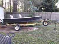 14 ft Aluminum Boat & Trailer