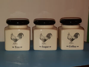 Rooster Canister 3 Piece set by Verdici