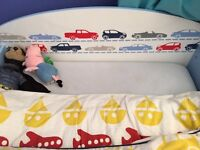Two toddler beds with car design