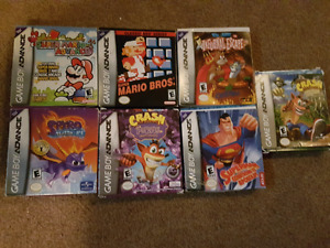 Boxed Gameboy Advanced Games