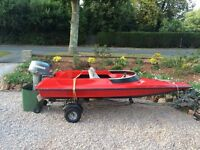 Speed boat 13ft mariner 40hp outboard engine