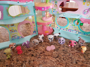 Littlest pet shops and house