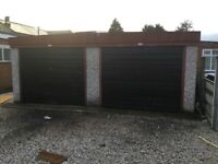 Double garage made from sectional concrete panels