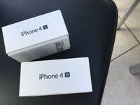 I phone 4 s empty boxes