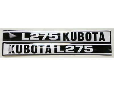 New Kubota L275 Hood Decal Set