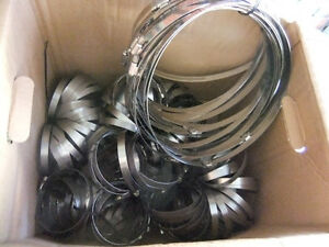 various stainless steel clamps small to xtra large 1/2 in wide,