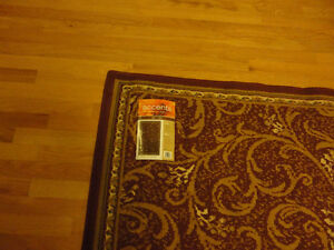 Red carpet area rug decorative accent Like New London Ontario image 5