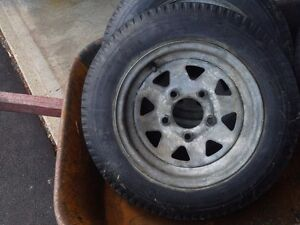 Two 4.30-12 trailer tires