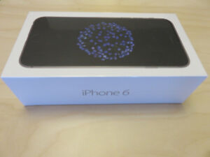 iPhone 6 - Sealed - 32 Gb - Fido -Black