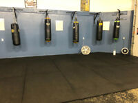 Gym space available for rent. Various times