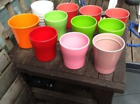 Coloured Glazed Ceramic Plant Pots/Containers
