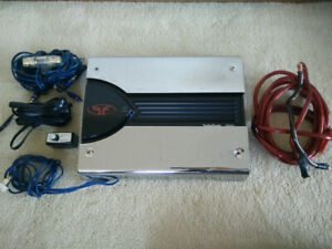 "Car audio amp (Rockford Fosgate) and 2 x 12"" subs (Pioneer)"