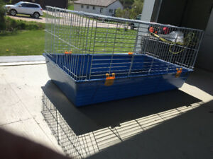 2 cages and accessories for smallish animals such as guinea pigs