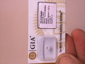 GIA certified  .27 CT diamond / trade for Silver bullion !!!
