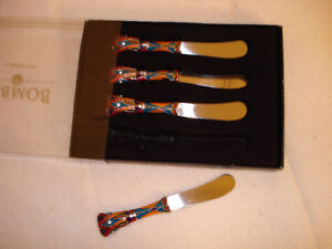 Christmas Canape Knives/Spreaders