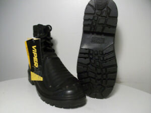 NEW SAFETY WORK BOOTS CERTiFiED ViPER STEEL-TOE Size 8.