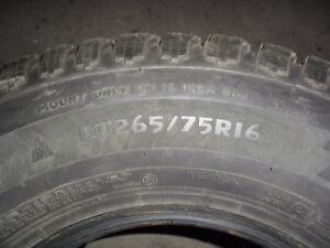 pneu hiver 265-75-16