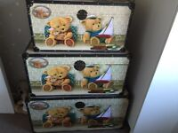 Set of Three Vintage Style Toy Chests