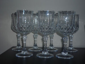 2 sets of Crystal Glasses ... different heights ... NEW Cambridge Kitchener Area image 2