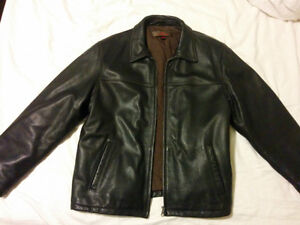 Almost New XL Hot Black Danier Leather Jacket**Lower Price***