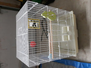 Bird Cage with Accessories and Bird Food