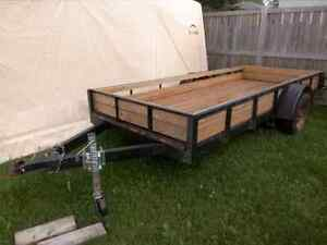 12' Custom Utility Trailer Wood Deck