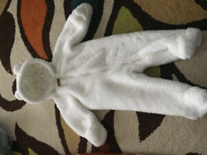 Baby white winter suit
