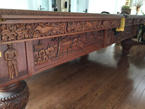 Antique snooker/billiard table