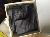 Ladies Black Leather Boots UK Size 6