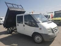 Ford Transit 350 Double Cab Tipper TDCi 110ps LWB DIESEL FWD