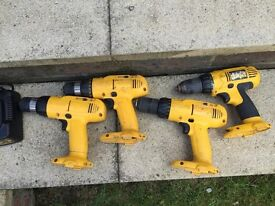 DeWALT drills and chargers